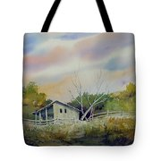 Shed With A Rail Fence Tote Bag