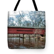 Sheeder - Hall - Covered Bridge Chester County Pa Tote Bag