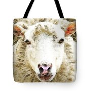 Sheep Art - White Sheep Tote Bag