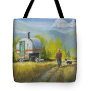 Sheep Camp Tote Bag