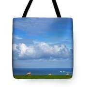 Sheep Grazing On The North Yorkshire Tote Bag