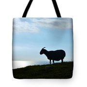 Sheep Silhouetted In Scotland Tote Bag