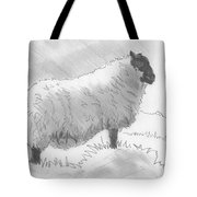 Sheep Sketch Tote Bag