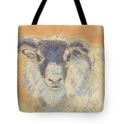 Sheep With Horns Tote Bag