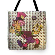Sheet Of Mad Hatter Blotter Acid Tote Bag by Science Source