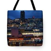 Sheffield Skyline At Night Tote Bag