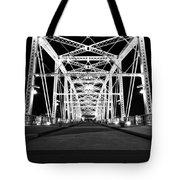 Shelby Street Bridge At Night In Nashville Tote Bag