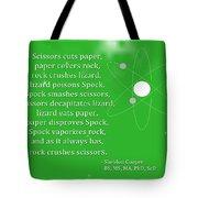 Sheldon Cooper - Rock Paper Scissors Lizard And Spock Tote Bag