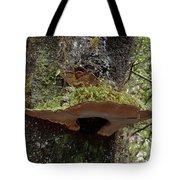 Shelf Mushroom With Moss Tote Bag
