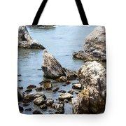 Shell Beach Rocky Coastline Tote Bag