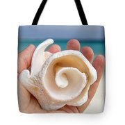 Shell In Hand Cozumel Tote Bag