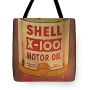 Shell Motor Oil Tote Bag by Michelle Calkins