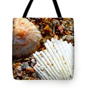 Shells On Sand Tote Bag