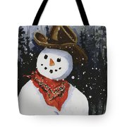 Shelly's Snowman Tote Bag