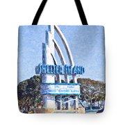 Shelter Island Sign San Diego California Usa Tote Bag