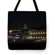Shem Creek At Night Tote Bag