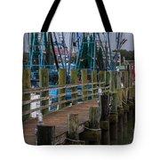 Shem Creek Pier Tote Bag