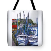 Shem Creek Shrimp Boats Tote Bag