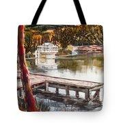 Shepherd Mountain Lake In Twilight Tote Bag