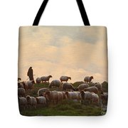Shepherd With Sheep Standard Size Tote Bag