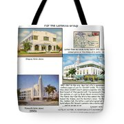 Shepley-plymouth And Adams Hotels - Art Deco Tote Bag