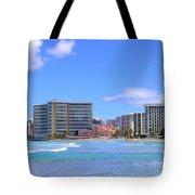 Sheraton And Royal Hawaiian View Tote Bag