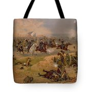Sheridan's Final Charge At Winchester Tote Bag by American School
