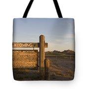 Sherman Mountains Wyoming Tote Bag