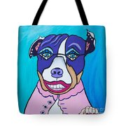 She's A Pit Bull That Wears Lipstick Tote Bag