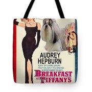 Shih Tzu Art - Breakfast At Tiffany Movie Poster Tote Bag