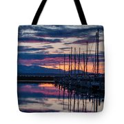 Shilshole Olympic Mountains Sunset Vertical Tote Bag