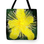 Shimmer Yellow Flower Tote Bag
