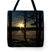 Shimmering In Gold And Sapphire Tote Bag