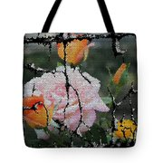 Shinning Roses Photo Manipulation Tote Bag