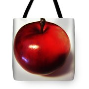 Shiny Red Apple Tote Bag