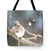 Shiny Tree Sparrow Tote Bag