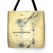Ship Anchor Patent From 1892 - Vintage Tote Bag