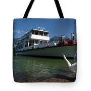 Ship And Swan Tote Bag