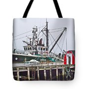 Ship Docked In Lunenburg-ns Tote Bag