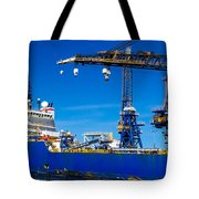 Ship In Port Tote Bag