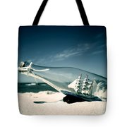 Ship In The Bottle Tote Bag