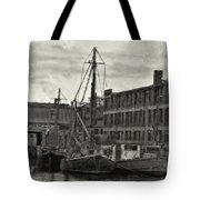 Ship Mooring Vintage Tote Bag