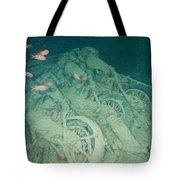 Fish And Motorbikes Tote Bag