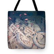 Motorbikes On A Ship Wreck Tote Bag