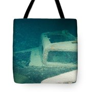 Ship Wreck With Trucks Tote Bag