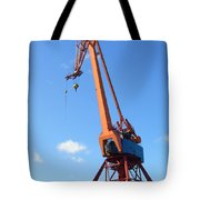 Shipping Industry Crane Tote Bag