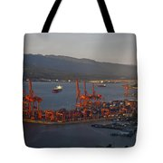 Shipping Terminals Port Of Vancouver Tote Bag