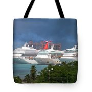 Ships And Atlantis Tote Bag