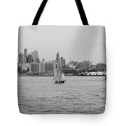 Ships And Boats In Black And White Tote Bag