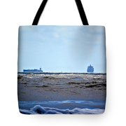 Ships At Sea Tote Bag